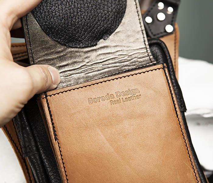 BAG369-6 Крутая мужская сумка на бедро из натуральной кожи, ручная работа фото 05