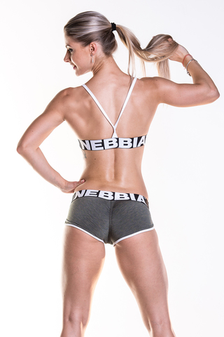 Спортивный топ Nebbia Fitness Bra with hem 267 khaki