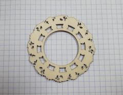 Рамка для скрапбукинга МИНИ, деревянная, 5-7 см, 1 шт.