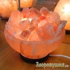 Солевая лампа Ваза с камнями 4-6 кг