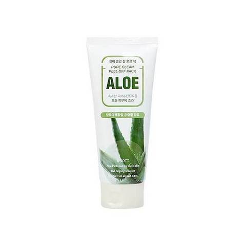 JIGOTT Маска-плёнка для лица на основе экстракта алоэ Aloe Pure Clean Peel Off Pack (180мл)