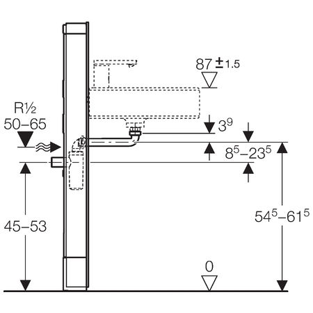 Сантехнический модуль для раковины Geberit Monolith 131.049.SI.1