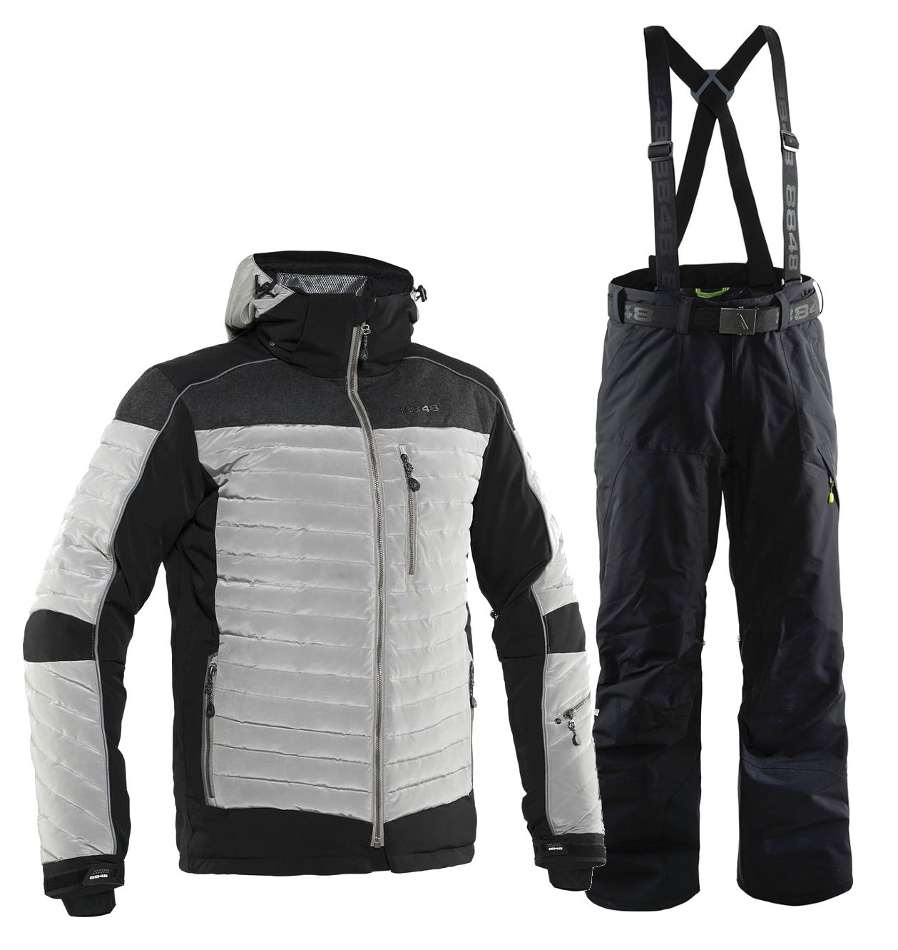 8848 ALTITUDE TERBIUM BASE мужской горнолыжный костюм серый