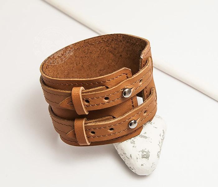 Boroda Design, Широкий браслет ручной работы из натуральной кожи. «Boroda Design» все цены