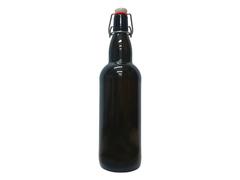 Бутылка стеклянная коричневая с бугельной пробкой 1 л