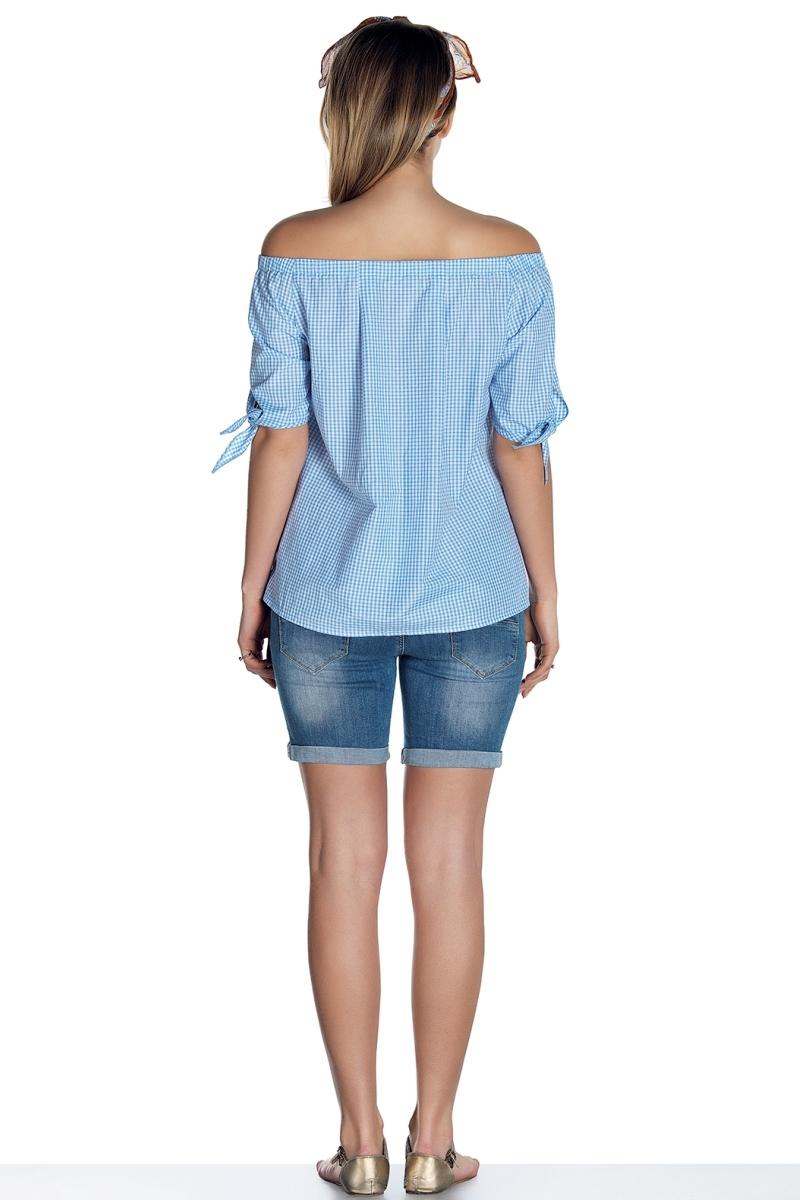 Блузка для беременных 08494 синий