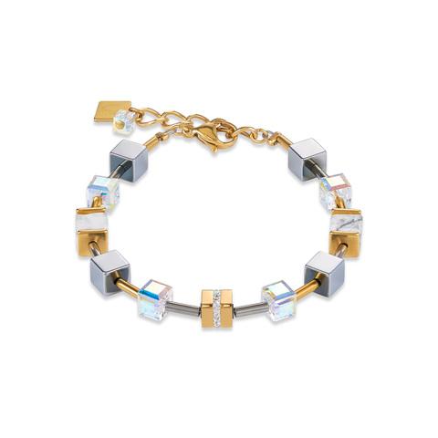 Браслет Coeur de Lion 4965/30-1614 цвет золотой, серый, белый