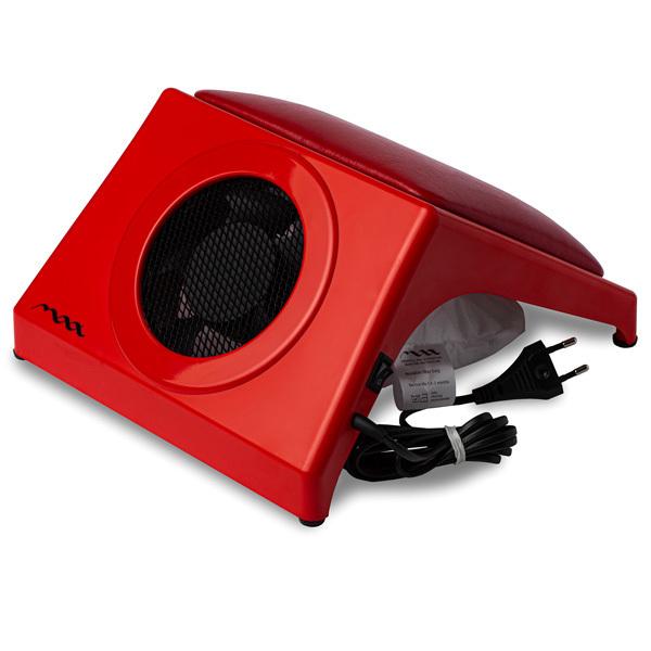 Настольная вытяжка для маникюра MAX Storm 4 Красный (32Вт max), с подушкой RED фото