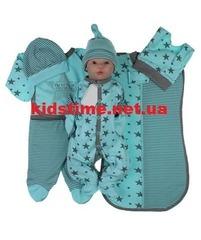 Набор одежды для новорожденного в роддом Звездочка мятный