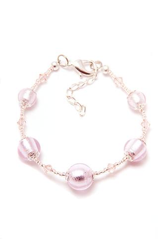 Браслет Примавера Pink серебристо-розовый
