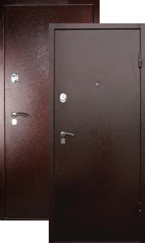 Дверь входная Falko Арктика New, 2 замка, 2 мм  металл, (медь антик+медь антик)