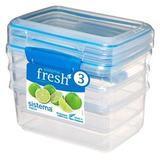 Набор контейнеров Fresh (3 шт.) 1 л, артикул 921613, производитель - Sistema