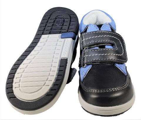 Ботинки для мальчиков Котофей 152134-21 из натуральной кожи на липучке цвет синий. Изображение 6 из 6.