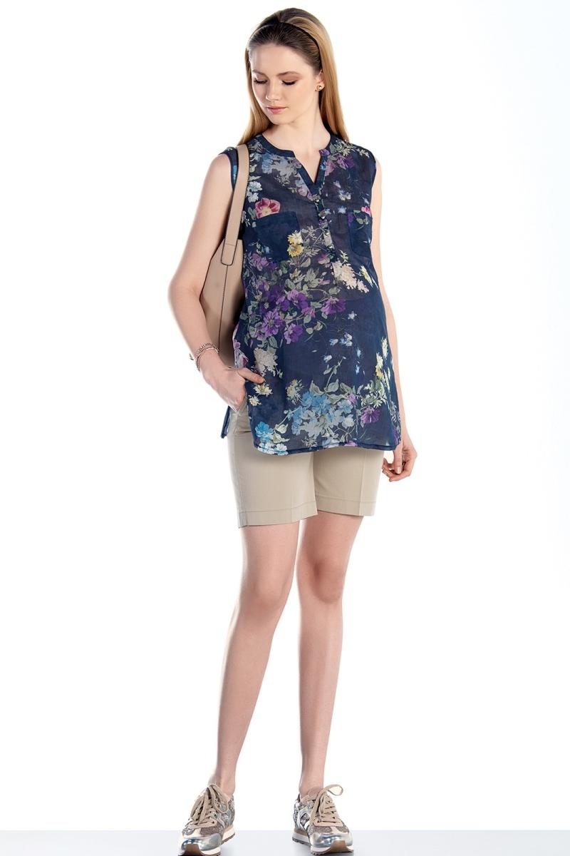 Блузка для беременных 07456 синий
