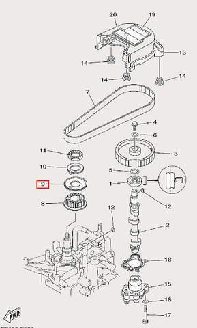 Шайба для лодочного мотора F9,9 Sea-PRO (8-9)