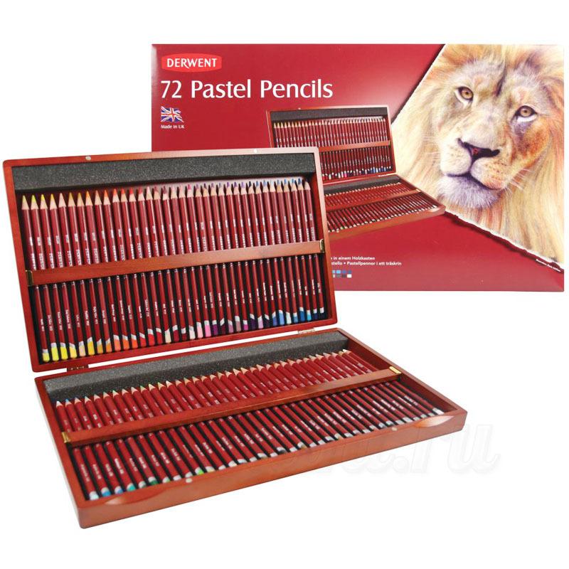 Набор из 72 пастельных карандашей Derwent