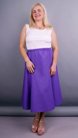 Тереза. Габардиновая юбка плюс сайз. Фиолет.