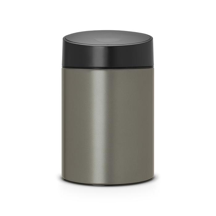 Мусорный бак Slide Bin (5 л), Платиновый, арт. 483141 - фото 1