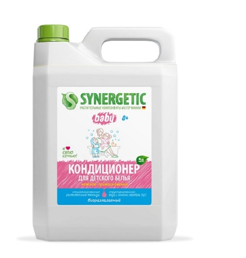 Кондиционер для стирки, SYNERGETIC, гипоаллергенный, 5 л.