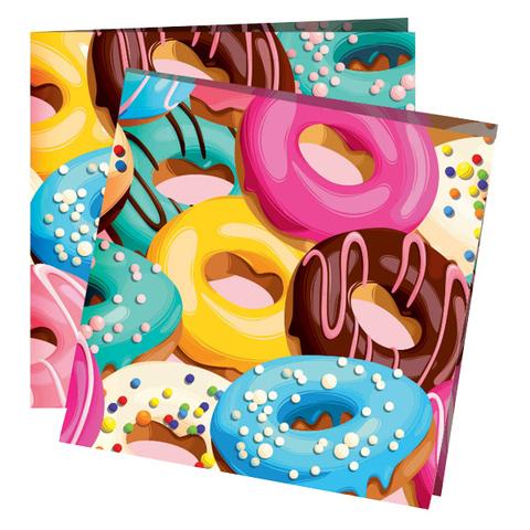 Салфетки Пончики 12шт, 24х24см