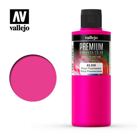 Premium Airbrush Rose Fluo 200 ml.