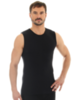 Мужская термомайка Brubeck Comfort Wool (SL10160) черная