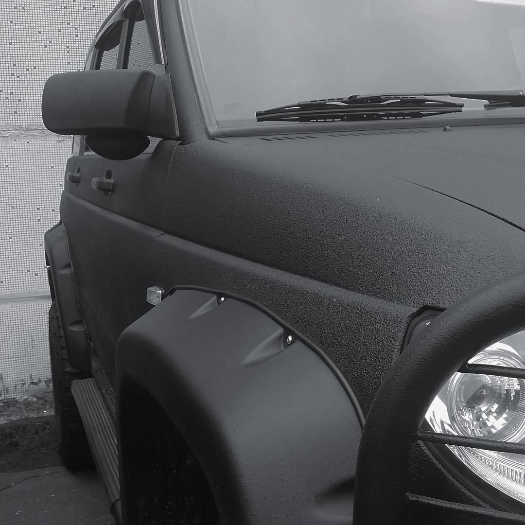 Покраска Раптором УАЗ Патриот фото-1
