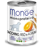 Monge Dog Monoproteico Fruits Консервы для собак из индейки с рисом и цитрусовыми 24х400 г. (паштет) (70014335)