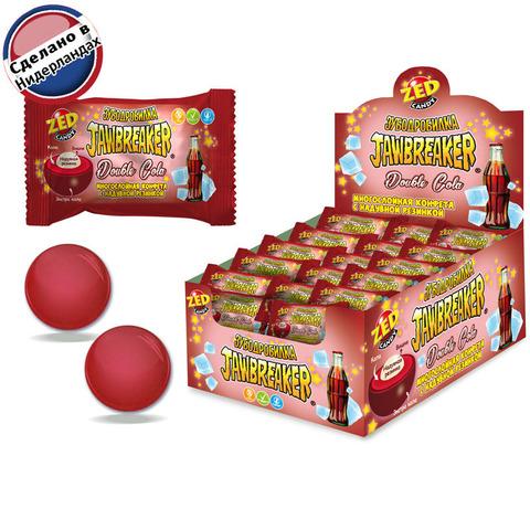 JAWBREAKER Зубодробилка Double Cola многослойная конфета с надувной резинкой 1кор*8бл*50 шт. 14,6 гр.