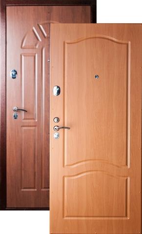 Дверь входная Falko Арктика Рио, 2 замка, 2 мм  металл, (орех таволато+миланский орех)