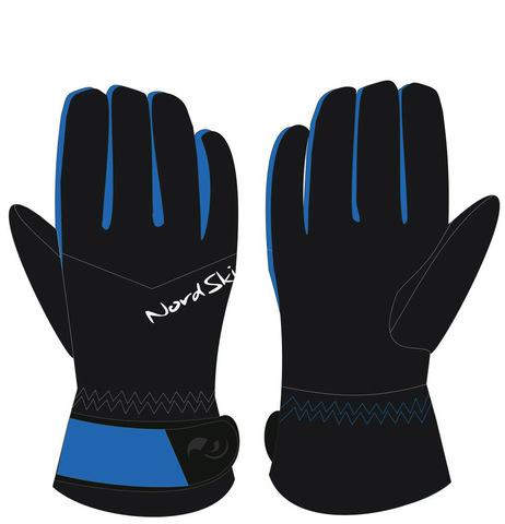 Тёплые зимние Перчатки Nordski Arctic Black-Blue  Membrane