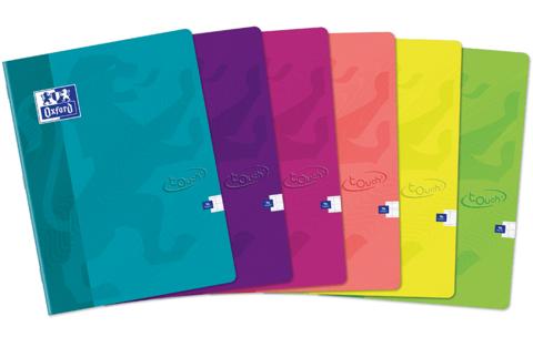 Тетрадь общая Touch' A5 клетка 60л 90г/м2 12 штук в упаковке (цвета ассорти)