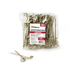 Пики для канапе бамбук Завитки 90мм 100шт/уп 401-463