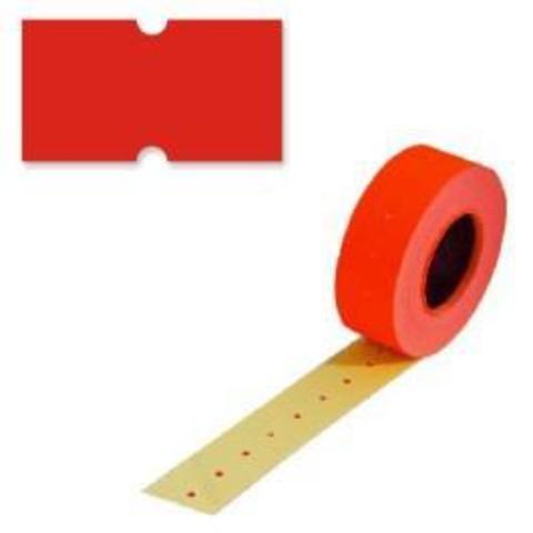 Этикетки 26х16 красная прямой край (800)