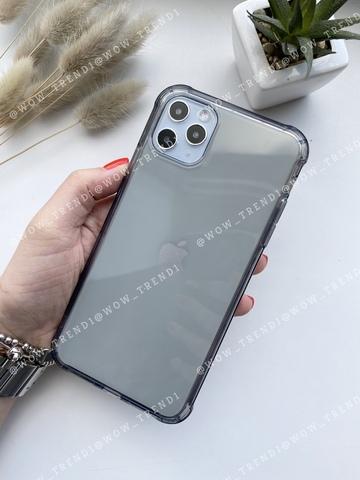 Чехол iPhone 11 Pro Max Simple simple angle silicone /transparent black/ 443