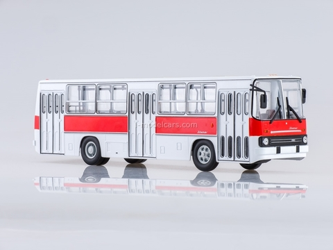 Ikarus-260 city red-white Soviet Bus 1:43