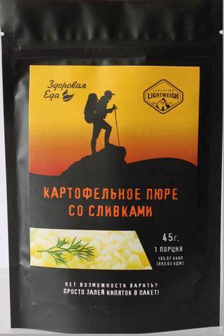 Картофельное пюре со сливками для приготовления в пакете