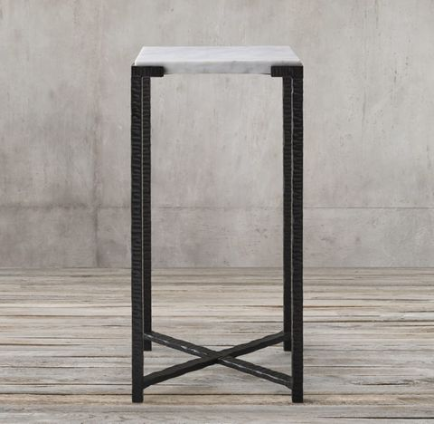 Cannon Forged Iron Square Cocktail Side Table