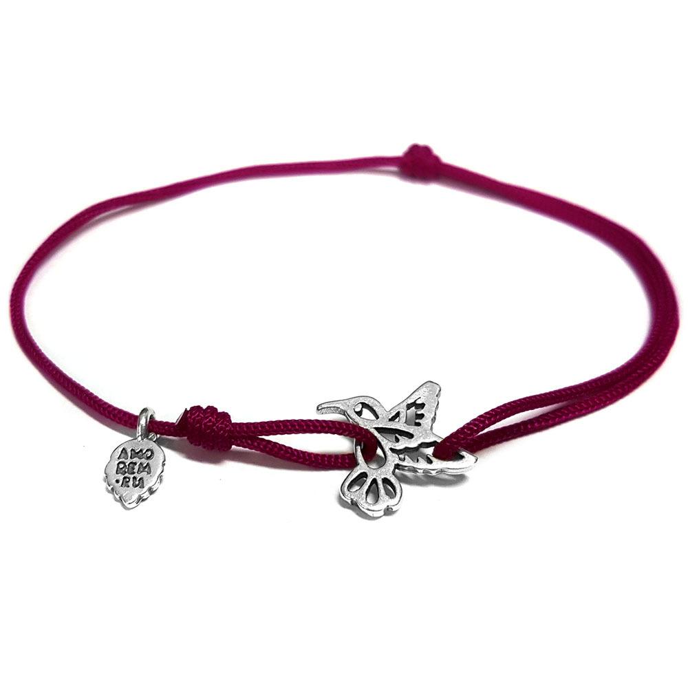 Hummingbird Bracelet, Sterling Silver