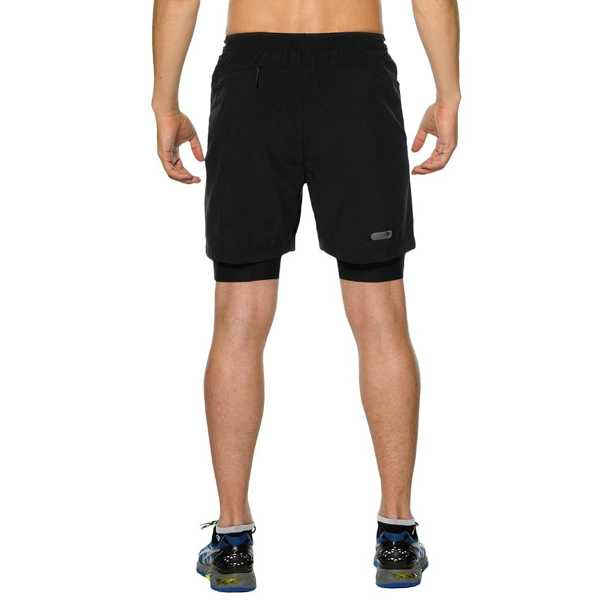 Мужские шорты-боксеры для бега Asics M'S FujiTrail 2in1 (130016 0904) черные