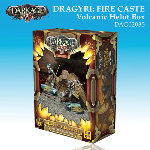 Dragyri Fire Caste Volcanic Helot Unit Box