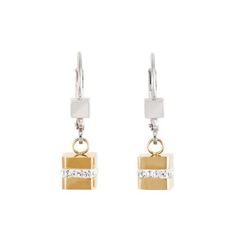 Серьги Coeur de Lion 4966/20-1617 цвет золотой, серый