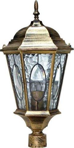 Светильник садово-парковый, 60W 230V E27 черное золото, PL152 (Feron)