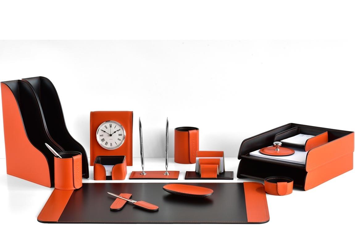 набор на стол руководителя оранж/шоколад