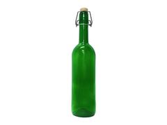 Бутылка стеклянная зеленая с бугельной пробкой 0,75 л