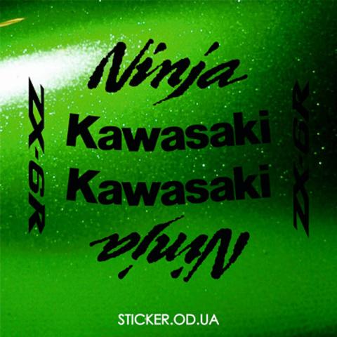 Набор виниловых наклеек на мотоцикл KAWASAKI ZX-6R, Ninja, 2009
