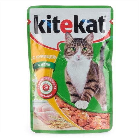"""Корм для кошек Kitekat """"Курица в желе"""" 85г"""