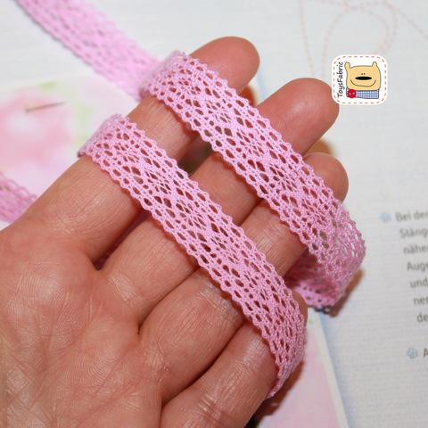Кружево вязаное КХ5-Р (розовое) 90см