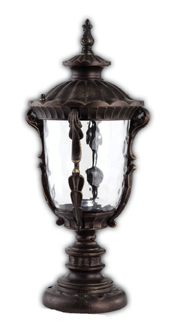 Светильник садово-парковый, 100W 220V E27 Темно-коричневое золото , IP44 , PL5014 (Feron)