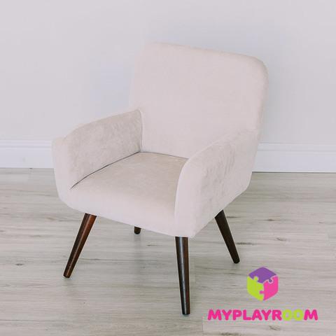 Детское стильное кресло в стиле 60-х, песочный